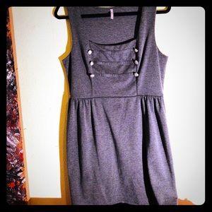 👛NEW👛EUC RUE 21 military mini dress w/buttons